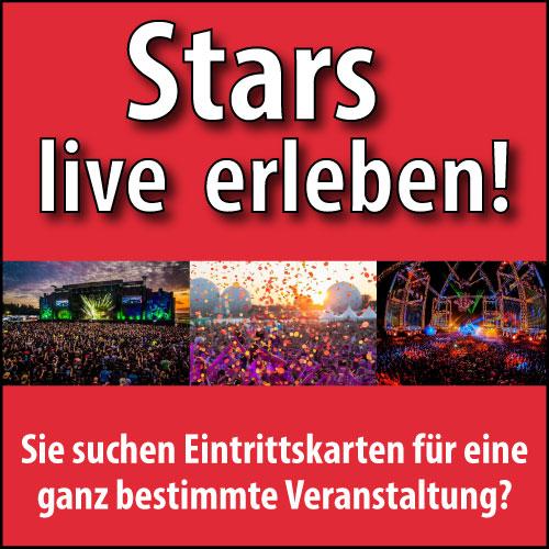 Eintrittskarten für Konzerte in ganz Deutschland